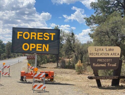 Prescott National Forest reopens to public entry; Stage 2 Fire Restrictions remain in place