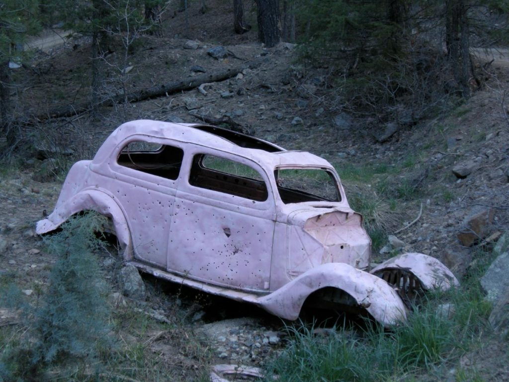 This is the oldest photo that I personally have of The Pink Car. It was taken on May 2, 2010.