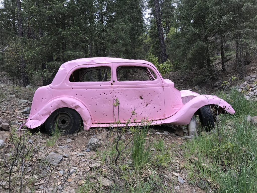 The Pink Car in Walker, AZ