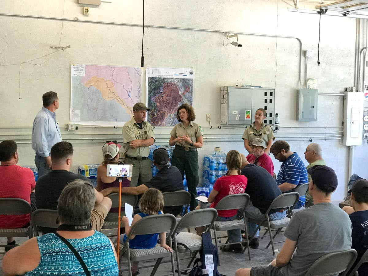 Jack smith walker community meeting about the goodwin fire aug 5th