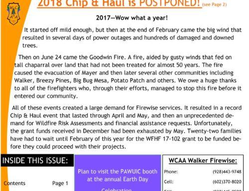 2018 Chip & Haul is POSTPONED!
