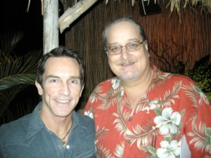 Jeff Probst and me at the 10 year Survivor reunion in January 2010, after 20 seasons.