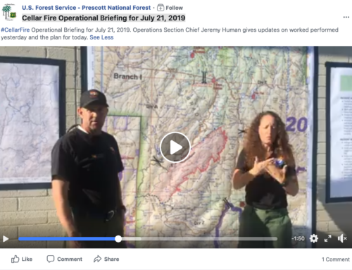 Cellar Fire Operational Briefing for July 21, 2019 am – Forest Service