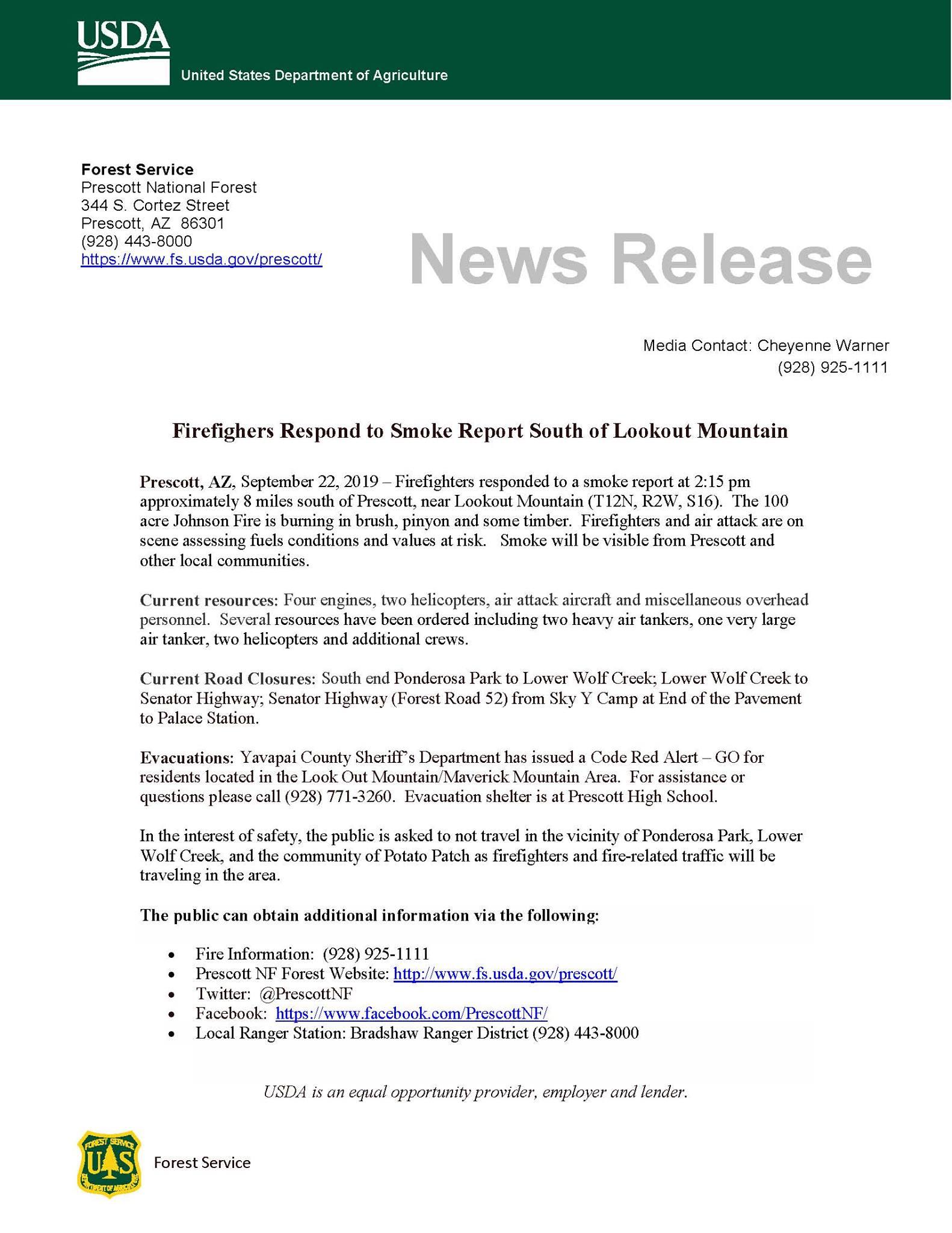 Johnson Fire Press Release