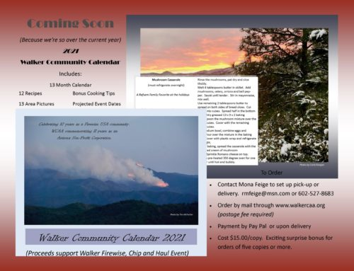 WCAA 2021 Walker Community Calendar­ For Sale