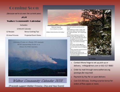 WCAA 2021 Walker Community Calendar For Sale